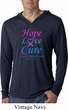 Thyroid Cancer Hope Love Cure Lightweight Hoodie Tee