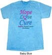 Thyroid Cancer Hope Love Cure Mineral Tie Dye T-shirt