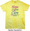 Thyroid Cancer Hope Love Cure Tie Dye T-shirt