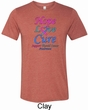 Thyroid Cancer Hope Love Cure Tri Blend Tee