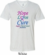 Thyroid Cancer Hope Love Cure Tri Blend V-neck