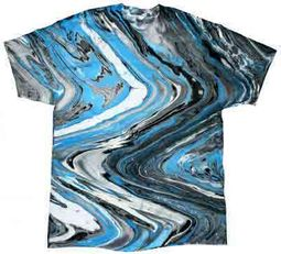 Tie Dye Kids T-shirt Marble Blue Tiger Vintage Groovy Youth Tee Shirt