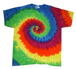 Tie Dye Kids T-shirt Moondance Vintage Rainbow Swirl Youth Tee Shirt