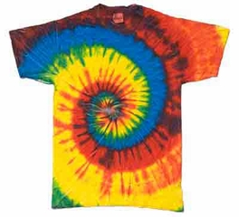 Tie Dye Kids T-shirt Rasta Blue Vintage Rainbow Swirl Youth Tee Shirt