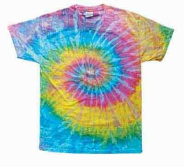Tie Dye Kids T-shirt Saturn Retro Vintage Groovy Swirl Youth Tee Shirt
