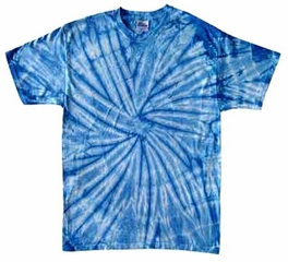 Tie Dye Kids T-shirt Spider Baby Blue Vintage Groovy Youth Tee Shirt