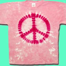 Tie Dye Peace T-shirt - Sundog Pink Sign Adult Tee