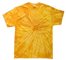 Tie Dye Spider Gold Retro Vintage Groovy Youth Kids T-Shirt Tee Shirt