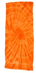 Tie Dye Spider Orange Retro Vintage Groovy Beach Towel