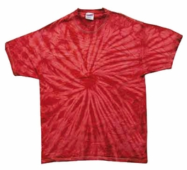 Tie Dye Spider Red Retro Vintage Groovy Youth Kids T-Shirt Tee Shirt
