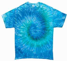Tie Dye T-shirt Blue Jerry Retro Vintage Groovy Adult Tee Shirt