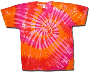 Tie Dye T-shirt- Dawn Swirl Adult Tee