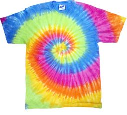 Tie Dye T-shirt Eternity Colorful Rainbow Swirl Retro Adult T-Shirt