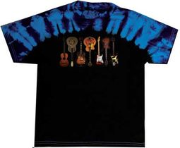 Tie Dye T-Shirt Guitars - Adult