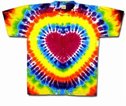 Tie Dye T-shirt - Heart Adult Tee