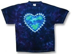 Tie Dye T-shirt - Mother Earth Heart Tee