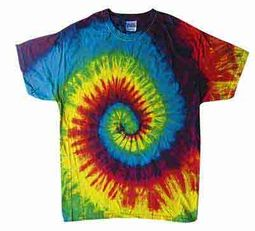 Tie Dye T-shirt Reactive Rainbow Retro Vintage Swirl Adult Tee Shirt