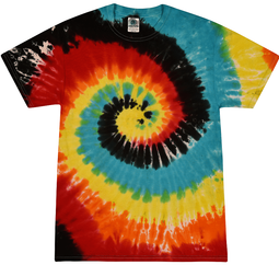 Adult Tie Dye T-shirt -  Retro Swirl Adult Tee