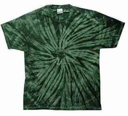 Tie Dye T-shirt Spider Green Retro Vintage Groovy Adult Tee Shirt
