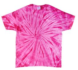 Tie Dye T-shirt Spider Pink Retro Vintage Groovy Adult Tee Shirt