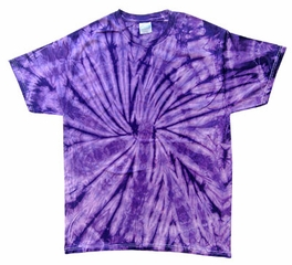 Tie Dye T-shirt Spider Purple Retro Vintage Groovy Adult Tee Shirt