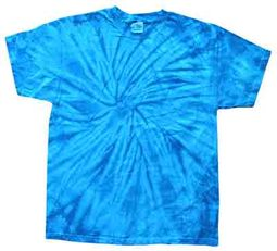Tie Dye T-shirt Spider Royal Retro Vintage Groovy Adult Tee Shirt