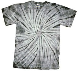 Tie Dye T-shirt Spider Silver Retro Vintage Groovy Adult Tee Shirt
