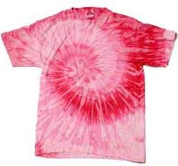 Tie Dye T-shirt Spiral Pink Retro Vintage Groovy Adult Tee Shirt