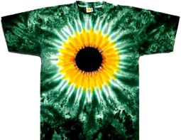 Tie Dye T-shirt Sunflower Burst Adult Unisex Tee