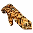 Tiger Print Microfiber Tie Necktie - Men's Animal Neck Tie