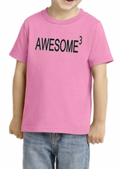 Toddler Shirt Awesome Cubed Tee T-Shirt