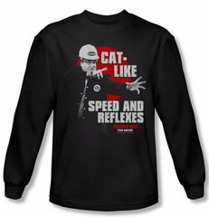 Tommy Boy Shirt Cat Like Long Sleeve Black Tee T-Shirt