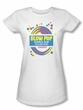 Blow Pop Juniors T-Shirts - Blow Pop Label White Tee