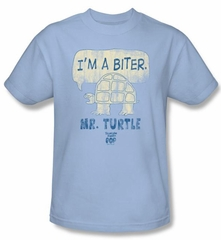 Tootsie Roll Kids T-Shirts - I'm A Biter Light Blue Tee Youth