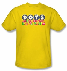Dots T-Shirts -Dots Logo Adult Yellow Tee