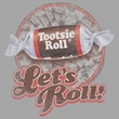 Tootsie Roll T-Shirts - Lets Roll Adult Silver Tee