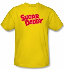 Sugar Daddy T-Shirts - Sugar Daddy Adult Yellow Tee