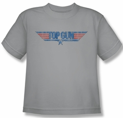 Top Gun Shirt Kids 8 Bit Logo Silver Youth Tee T-Shirt