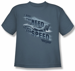Top Gun Shirt Kids Need For Speed Slate Youth Tee T-Shirt