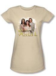 Touched By An Angel Juniors T-Shirt - Cream