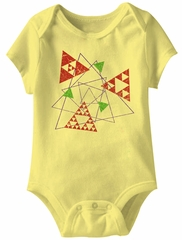 Triangle Shape Funny Baby Romper Yellow Infant Babies Creeper