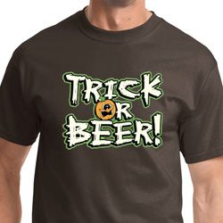 Trick Or Beer Mens Halloween Shirts
