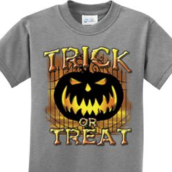 Trick or Treat Candle Skull Kids Halloween Shirts