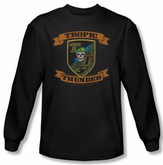 Tropic Thunder Shirt Patch Long Sleeve Black Tee T-Shirt