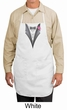 Tuxedo Apron With Pink Flower Funny Adult Full Length Apron