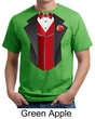 Tuxedo Organic T-shirt With Red Vest Funny Adult Tee Shirt
