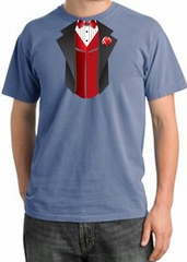 Tuxedo T-shirt Pigment Dyed With Red Vest - Night Blue