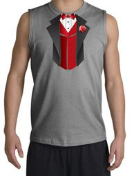 Tuxedo T-Shirt Shooter With Red Vest