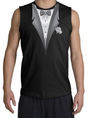 Tuxedo T-Shirt Shooter With White Flower - Black