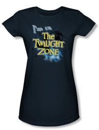 Twilight Zone Juniors T-Shirt - I'm In The Twilight Navy Blue